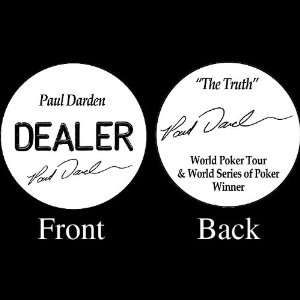 PAUL DARDEN Professional Collectors Dealer Button: Sports