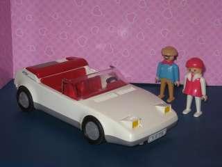 White Corvette Car with Original Figures ~ Rare 1987 Set ~ Nice