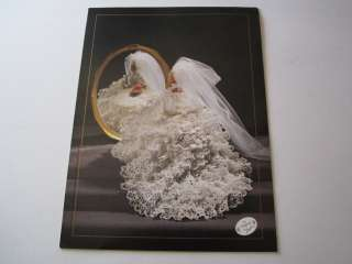 1996 Annies Original Calendar Fashion Barbie Doll Bridal Gown Crochet