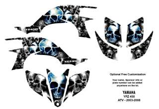YAMAHA YFZ 450 Atv Graphic Decal Sticker Kit #9800Blue