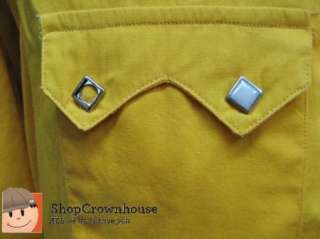 Mens ROCKMOUNT Ranch Wear Yellow Western Cowboy Pearl Snap Front