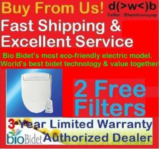 2FREE FILTERS+ 2FREE NOZZLE TIPS+ Bio Bidet BB 400 ELONGATED or ROUND