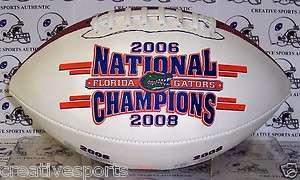 FLORIDA GATORS 2006 & 2008 NATIONAL CHAMPIONS CHAMPS FULL SIZE