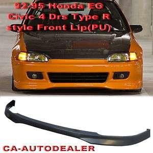 92 95 Honda Civic EG JDM Type R Front Bumper Lip Kit 4D