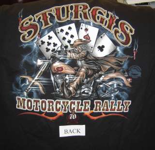 2010 Sturgis Wild Bill, Harley Motorcycle T shirts,70th.sturgis rally