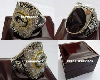 GREEN BAY PACKERS 2010 SUPER BOWL 18K WHITE GOLD PLATED CHAMPIONSHIP
