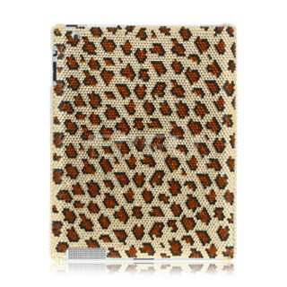 NEW LEOPARD PRINT CRYSTAL DIAMOND BLING CASE FOR iPAD 2