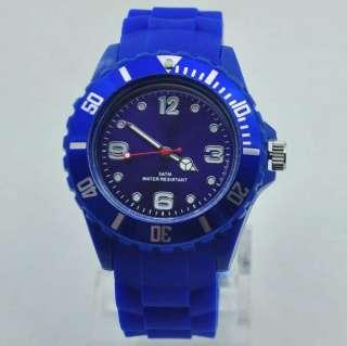 2012 New 1 PCS lot of top brand 13 colors men/women watch fashion
