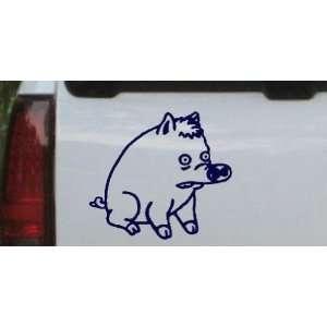 Spider Pig Cartoons Car Window Wall Laptop Decal Sticker    Navy 6.6in