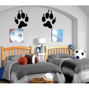 Wolf PAW Prints Decor Wall Mural Vinyl Art Sticker M120