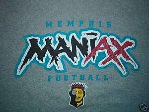 MEMPHIS MANIAX SHIRT vtg XFL maniacs football LARGE
