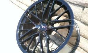 2010 2011 2012 Corvette Original front C6 ZR1 OEM 19X10 Gloss Black