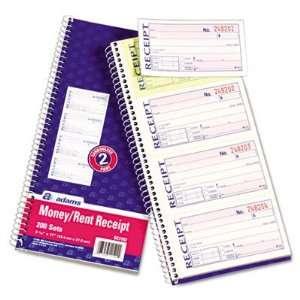 Adams SC1152   Two Part Rent Receipt Book, 2 3/4 x 5 1/4