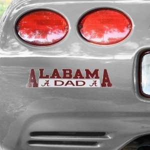 NCAA Alabama Crimson Tide Dad Automobile Decal Automotive