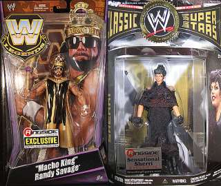 MACHO KING & SHERRI RINGSIDE EXCLUSIVES   WWE PACKAGE DEAL TOY
