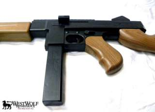 Full Scale U.S. THOMPSON Sub Machine Gun    WWII Airsoft Assault Rifle