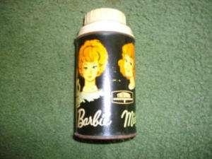 Barbie Midge Skipper Metal Thermos   1965 Mattel #2825