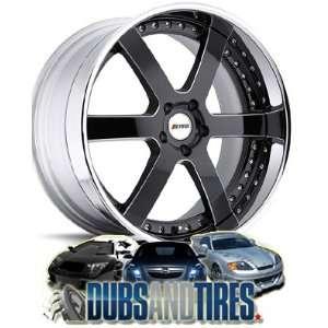 20 Inch 20x9 Petrol wheels Madrid Black Gloss Chrome Lip wheels rims