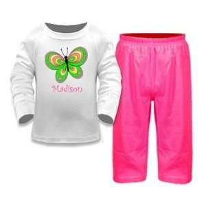 Baby Girl Clothing Butterfly 2 Piece Pant Set: Baby