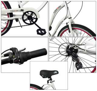 SHIMANO 26 7 SPEED LADY BEACH CRUISER BICYCLE WOMEN @@