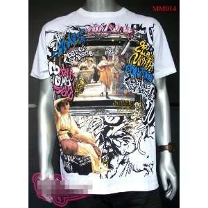 Graffiti minute mirth Rock Punk Art Tattoo Street T Shirt L Free