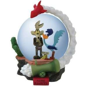 Looney Tunes Wile E Coyote Road Runner Rocket Globe