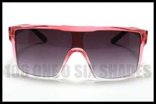 MENS Fashion Sunglasses Flat Top Oversized Squared Shades 2 Tone PINK