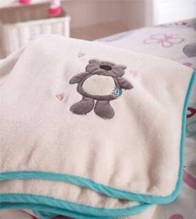 GIRLS TEDDY BEAR & HEARTS COT BED DUVET COVER
