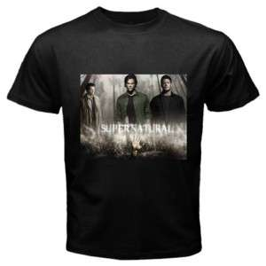 Sam and Dean Supernatural Tv Show Black T Shirt Men