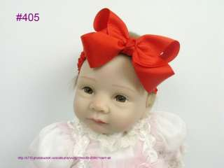 boutique hair bows 4 4.5.5 inches with headband without clips