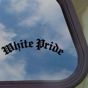 White Pride Black Decal Car Truck Bumper Window Sticker