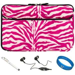 SumacLife Pink & White Zebra Print Design Covered Neoprene