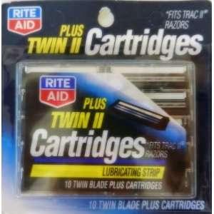 II Cartridges, 10 Twin Blade Plus Cartridges With Lubricating Strip