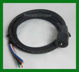 Universal Molded Trailer Light Plug Wiring Harness 7 Way RV 6 Cord