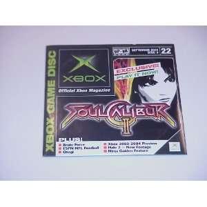 Xbox Magazine Demo Disc #22, September 2003, Featuring Soul Calibur