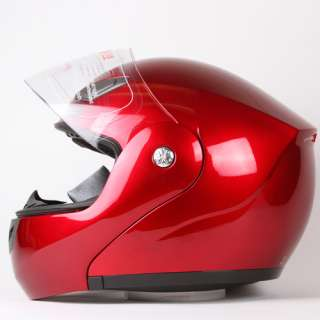 DARK WINE RED MODULAR FLIP UP MOTORCYCLE HELMET DOT Size S, M, L, XL