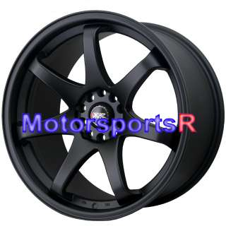 19 19x8.5 19x10 XXR 522 Flat Black Concave Rims Staggered 90 96 Nissan