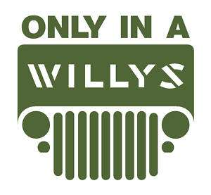 WILLYS Jeep logo decal sticker MB GPW WWII 2 m38a1 m151