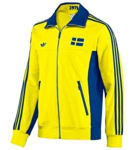 Sweden 1978 Retro Soccer Track Jacket Lemon Peel (P04024)   XL