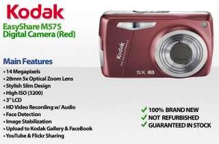 KODAK M575 Easyshare 14MP Digital Camera RED M 575 41778408483