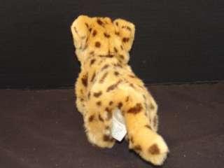PLUSH BABY CHEETAH LEOPARD CUB STUFFED ANIMAL TOY WILD BIG CAT