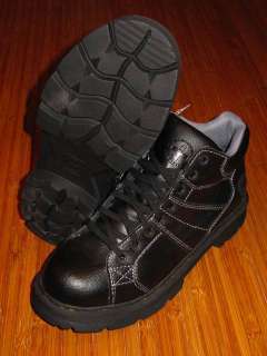 Mens DR MARTENS MORRIS 8 eye Black LEATHER BOOTS Shoes doc size 12