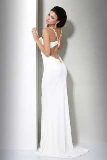 Elegant Long Evening Bridal Gown Prom Dress All Size