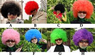 Lot of Party Rainbow Afro Clown Wigs Hair Wholesales