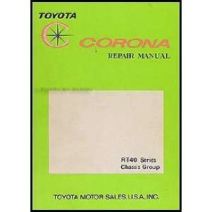 Corona Chassis Repair Shop Manual Original No. 98015 Toyota Books