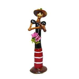 Day of the Dead, Catrina, Hand Molded, Hand Painted, Lady in Blue and