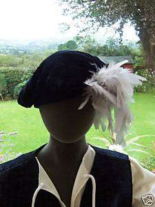 TUDOR PRINCE HAT CHILD SZ + FEATHER COSTUME/FANCY DRESS