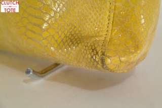 Michael Kors Jet Set Item Yellow Python Embossed Leather N/S Tote