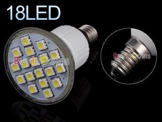 E14 220V 3W 18 LED SMD 5050 6500K Cool White Light Bulb