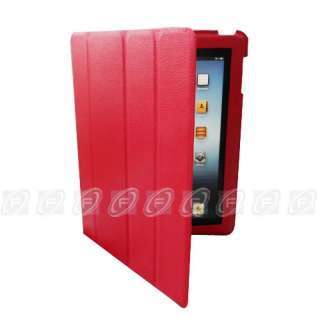The new iPad 3 Smart Cover Slim Magnetic PU Leather Case Wake/ Sleep